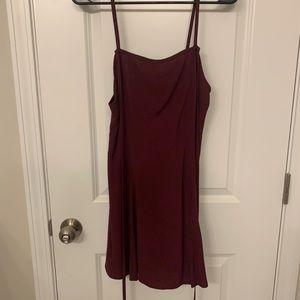NWT Tobi Burgundy Skater Dress Size Medium